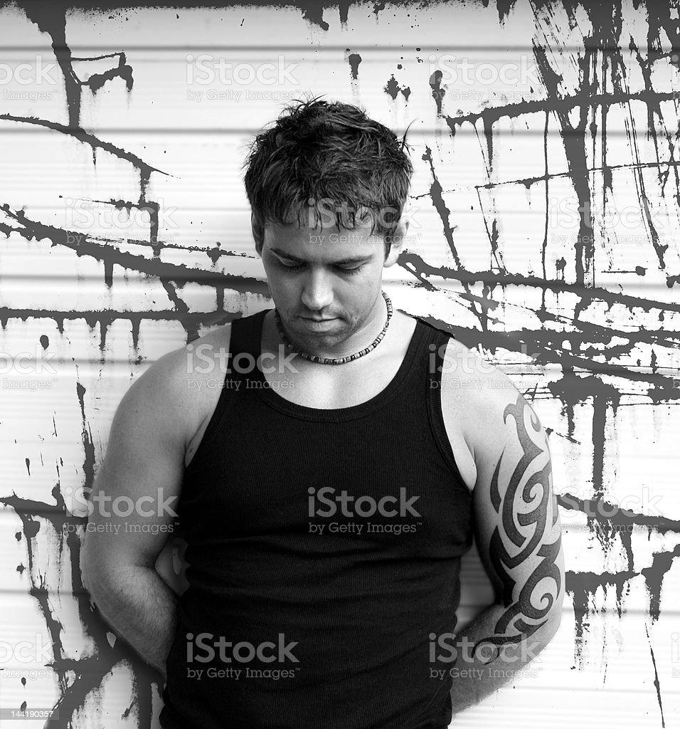 Grunge Guy stock photo