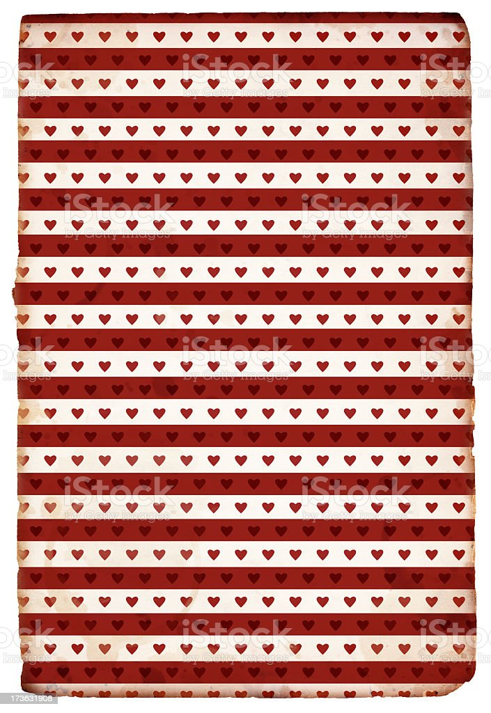 Grunge Heart Paper XXXL royalty-free stock photo