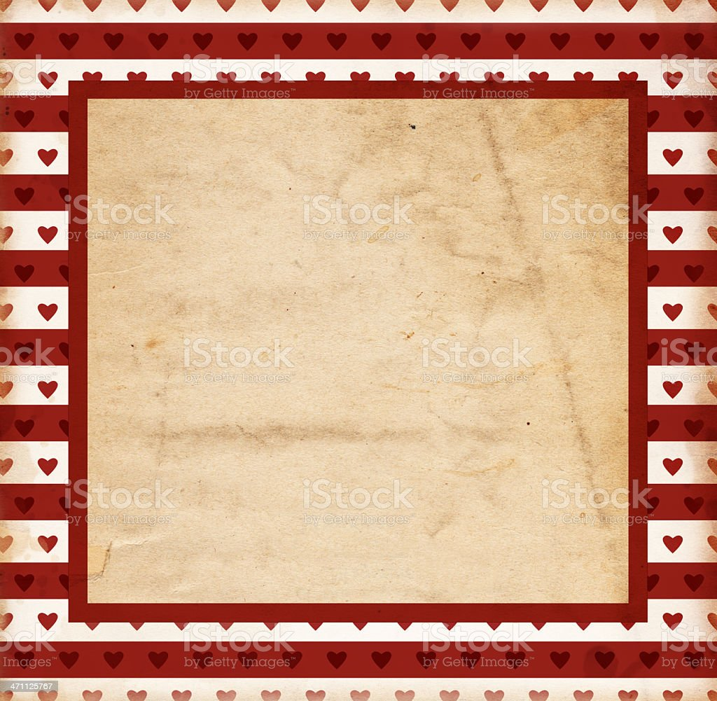 Grunge Heart Paper XXXL royalty-free stock photo