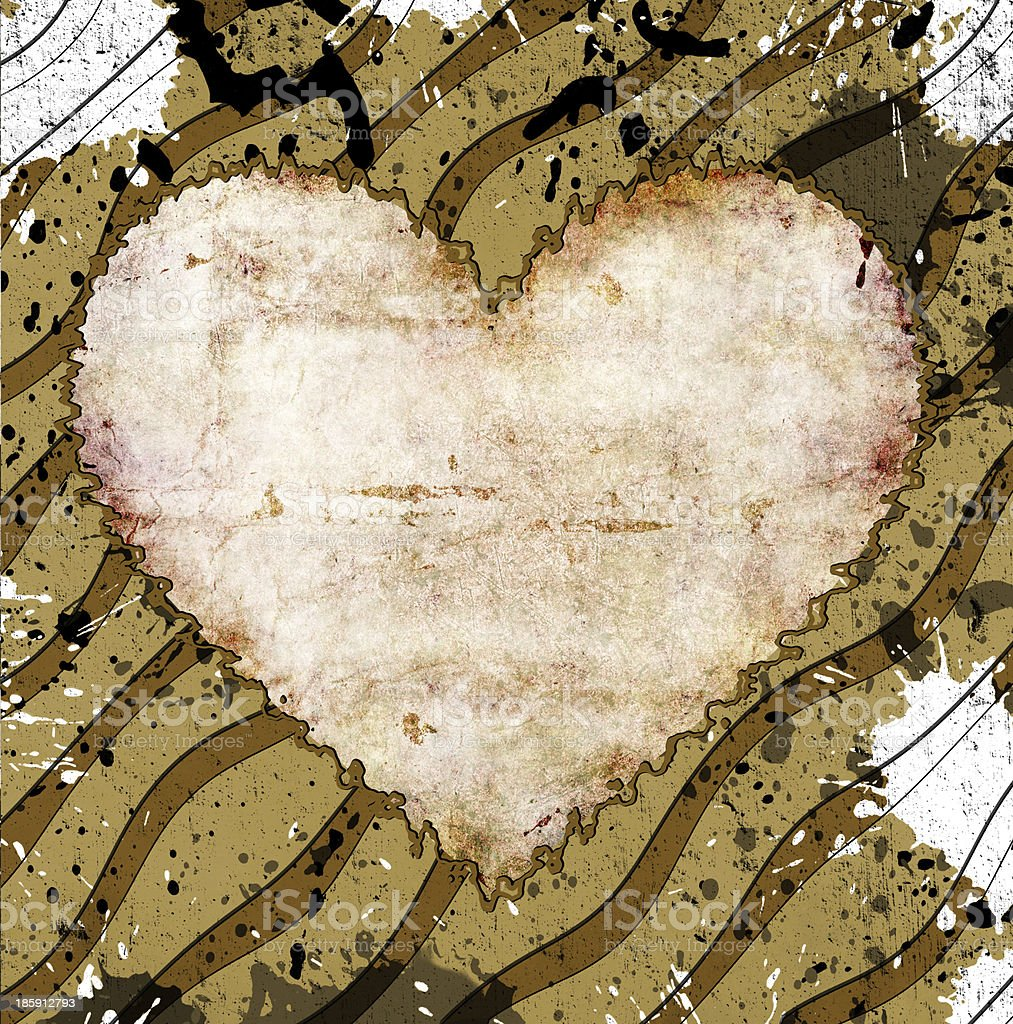 grunge heart royalty-free stock photo
