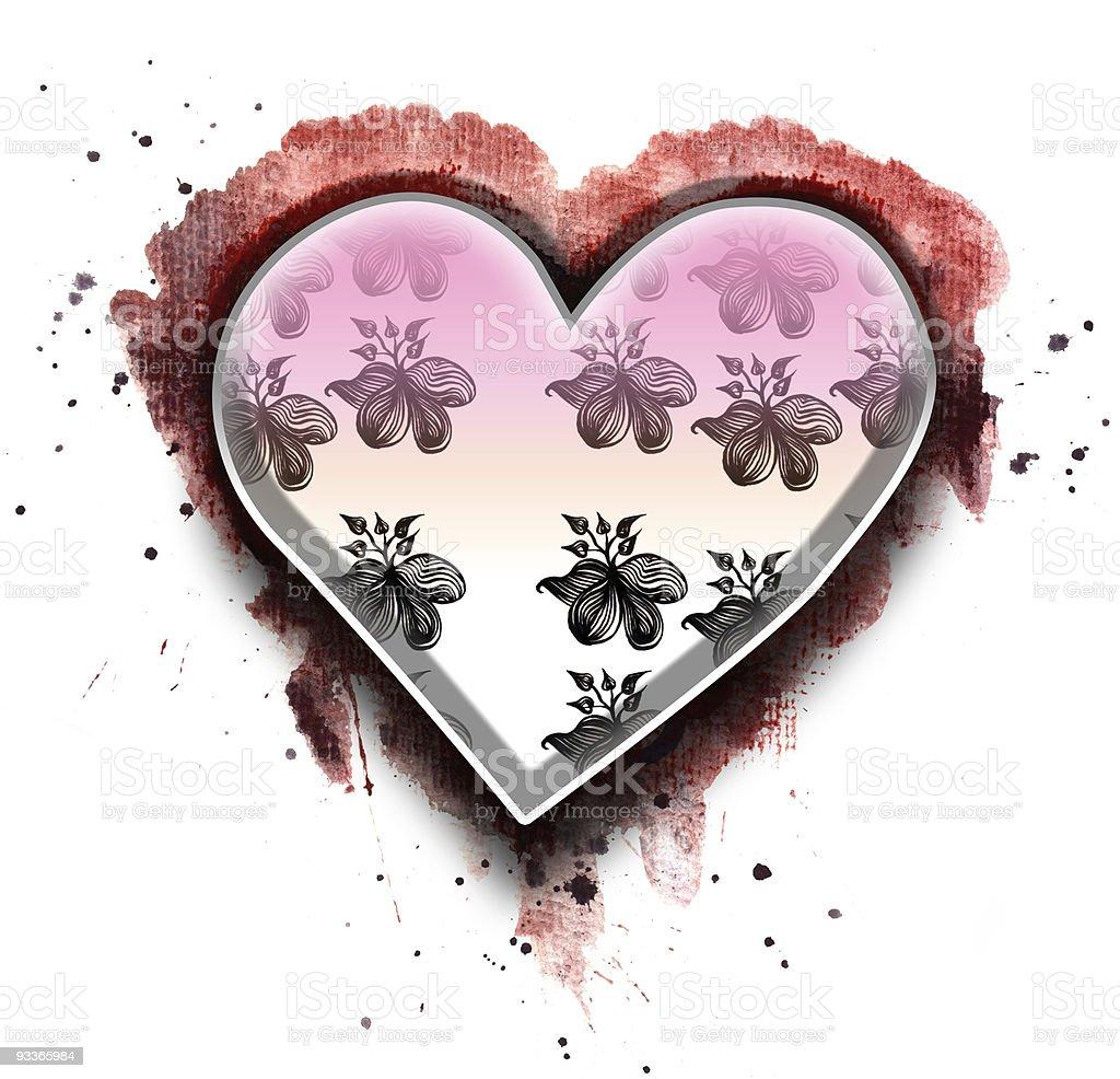 grunge heart royalty-free stock photo