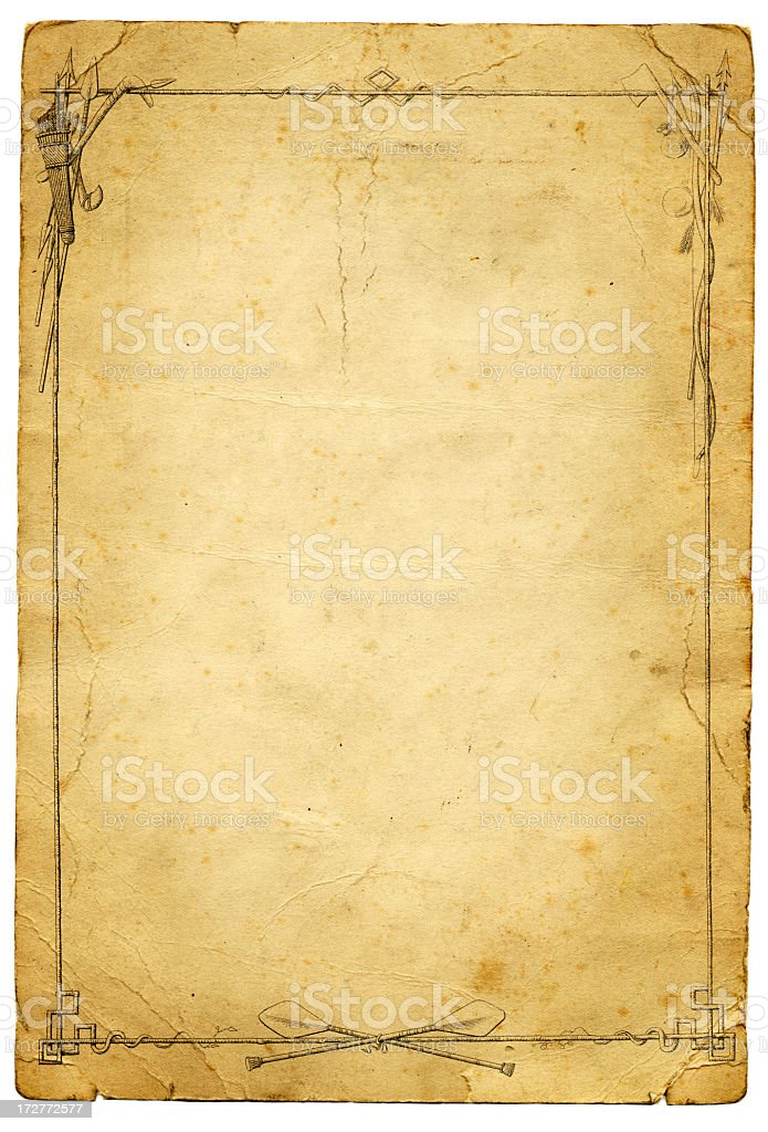 Grunge hunting paper frame royalty-free stock photo