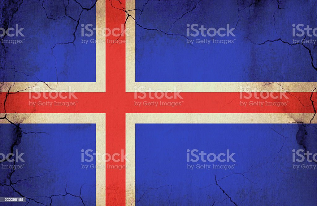 Grunge Icelandic Flag stock photo