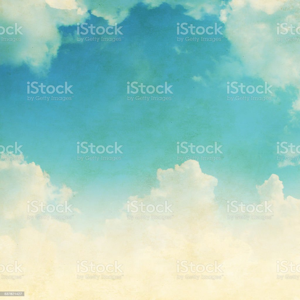 Grunge image of blue sky. stock photo