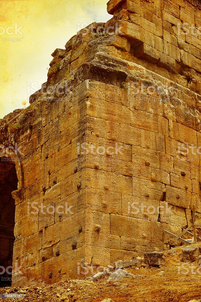 Grunge image of Hierapolis, Denizli, Turkey stock photo