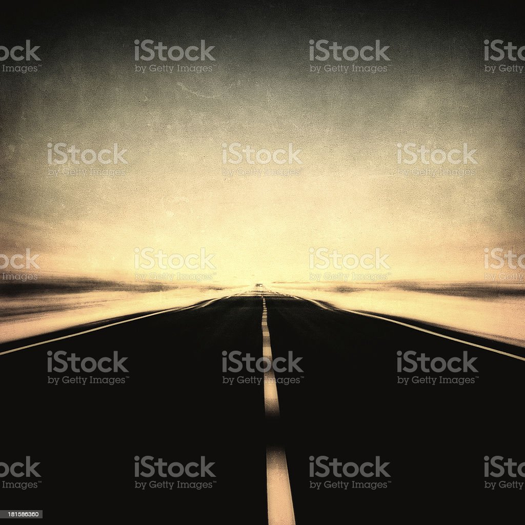 grunge image of highway and blue sky in motion blur royalty-free stock photo