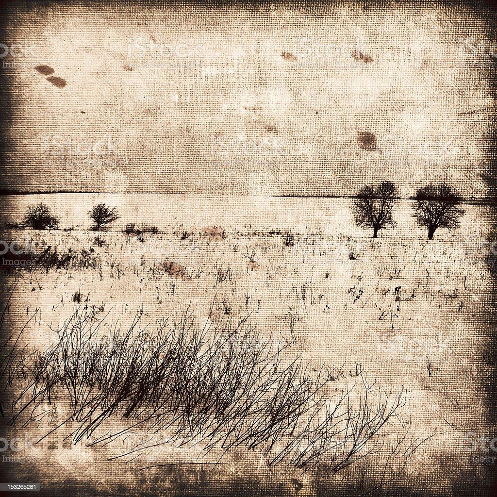 Grunge image of landscape. royalty-free stock photo
