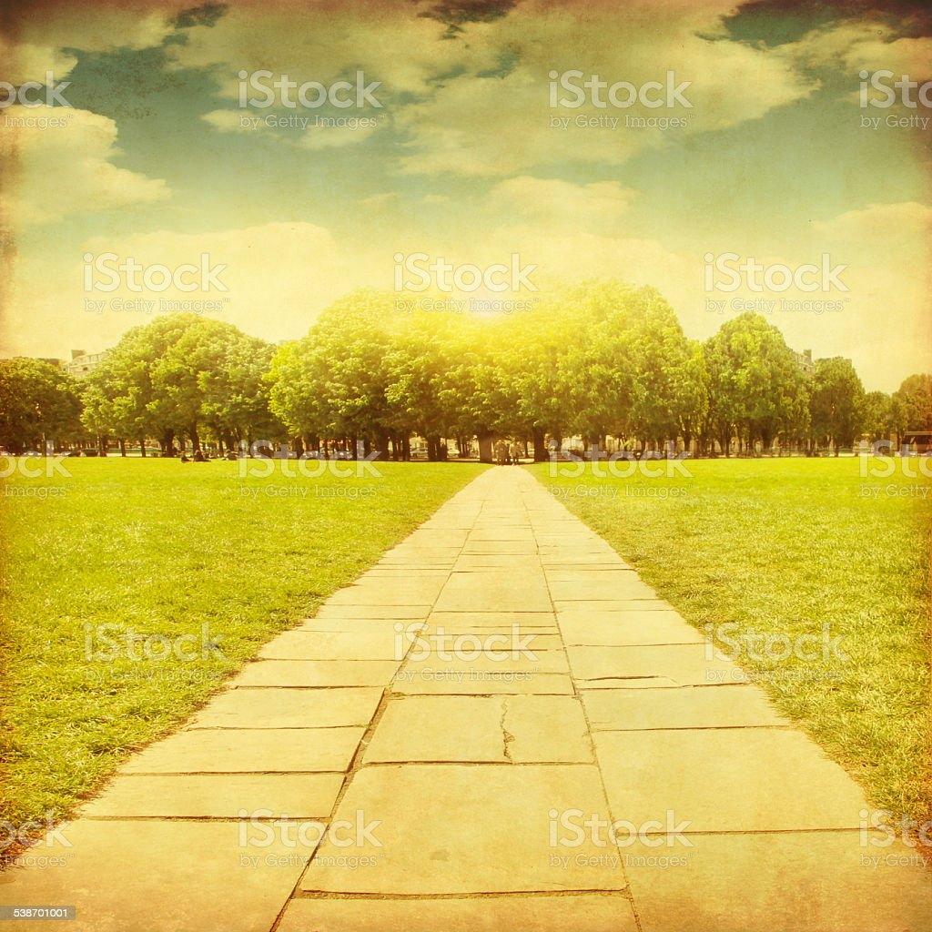 Grunge image of stone pathway. stock photo