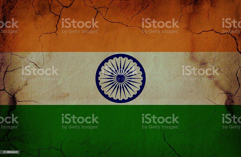 Grunge Indian Flag stock photo