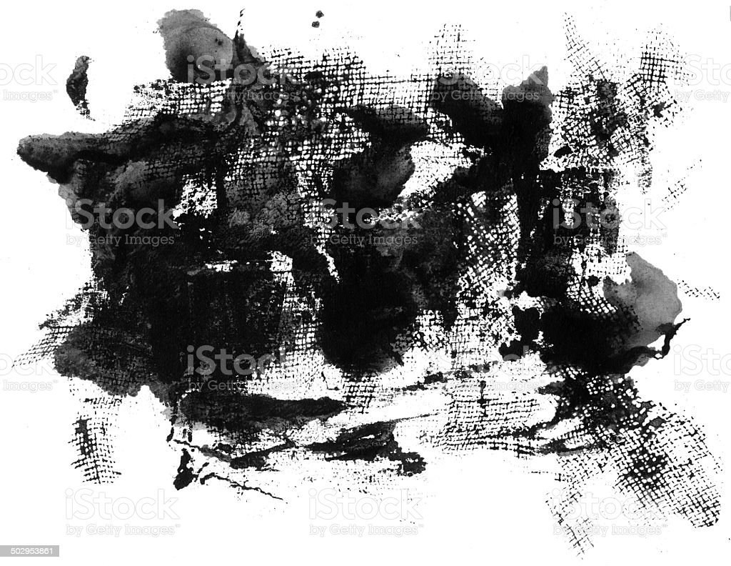 Grunge ink texture isolated on white royalty-free stock photo