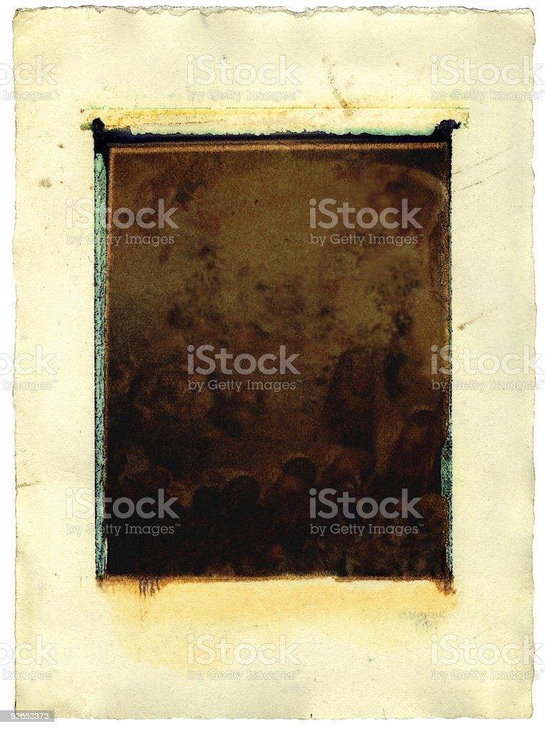 Grunge instant print transfer royalty-free stock photo