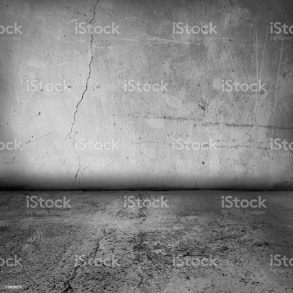 grunge interior wall and floor stock photo