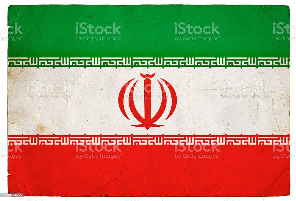 Grunge Iranian Flag stock photo
