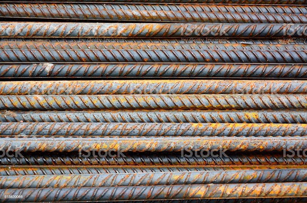Grunge iron rods stock photo