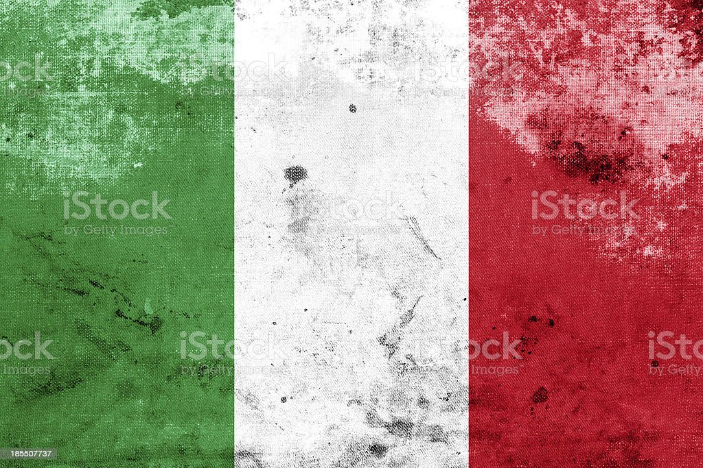 Grunge Italy Flag royalty-free stock photo