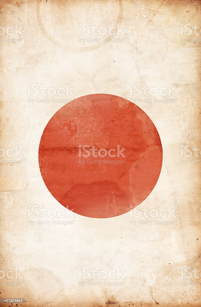 Grunge Japanese Flag XXXL royalty-free stock photo