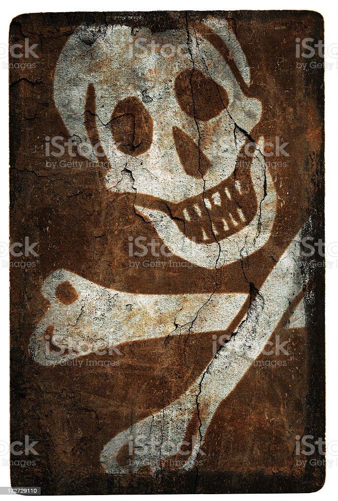 Grunge Jolly Roger Flag stock photo