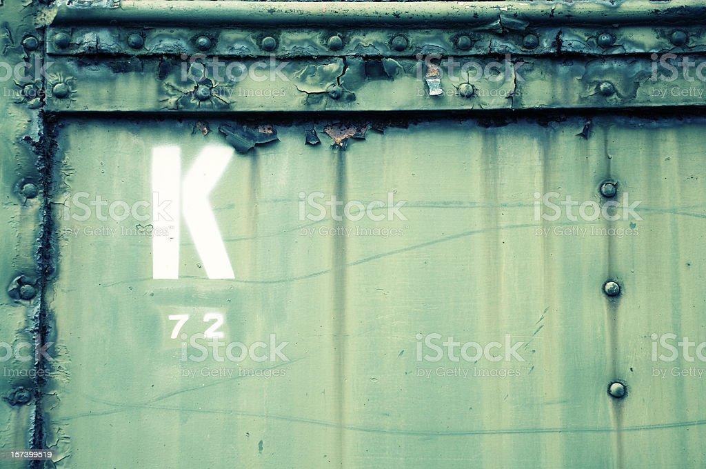 Grunge K stock photo