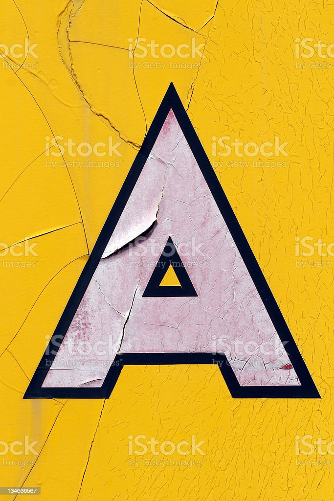 Grunge Letter A royalty-free stock photo