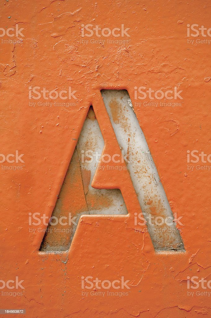 Grunge Letter A stock photo