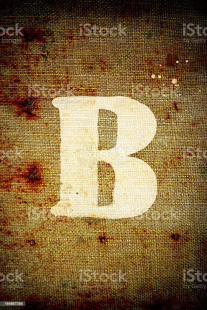 Grunge letter B royalty-free stock photo