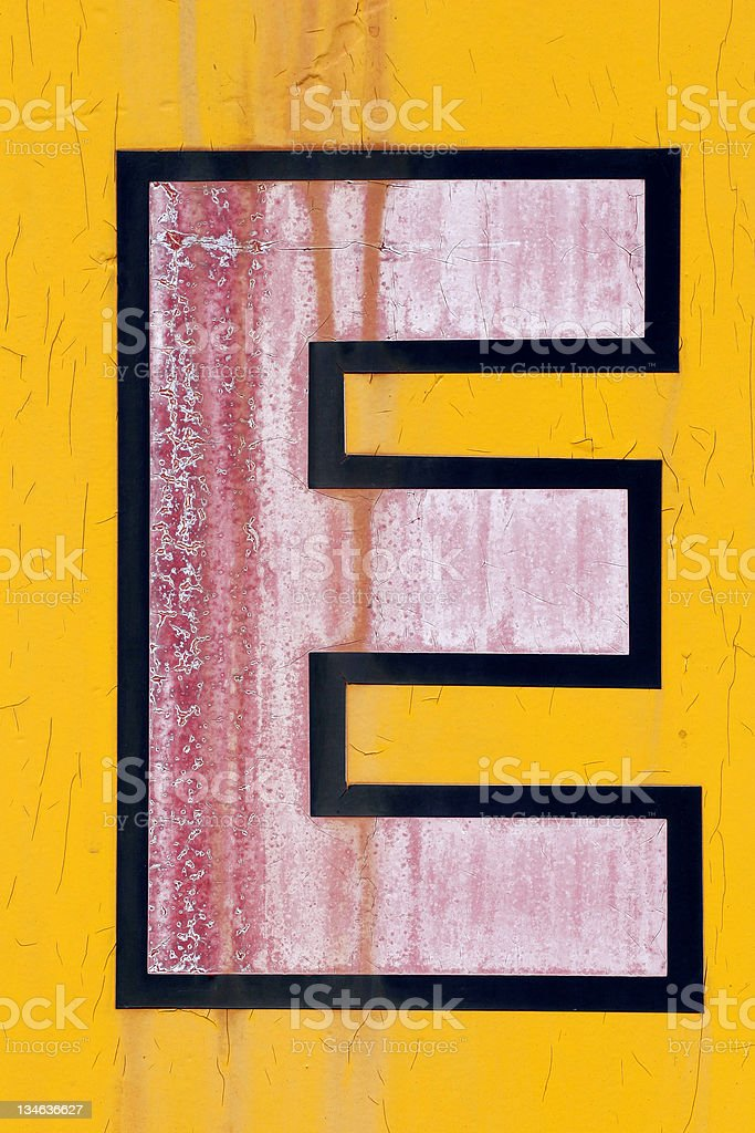 Grunge Letter E royalty-free stock photo