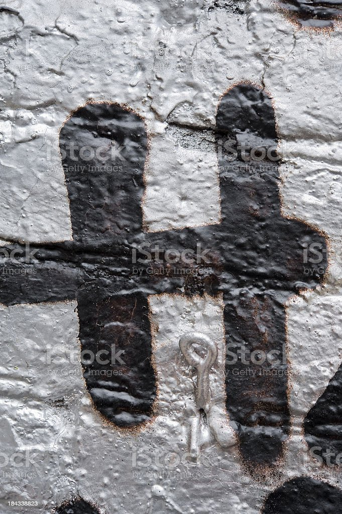 Grunge Letter H royalty-free stock photo