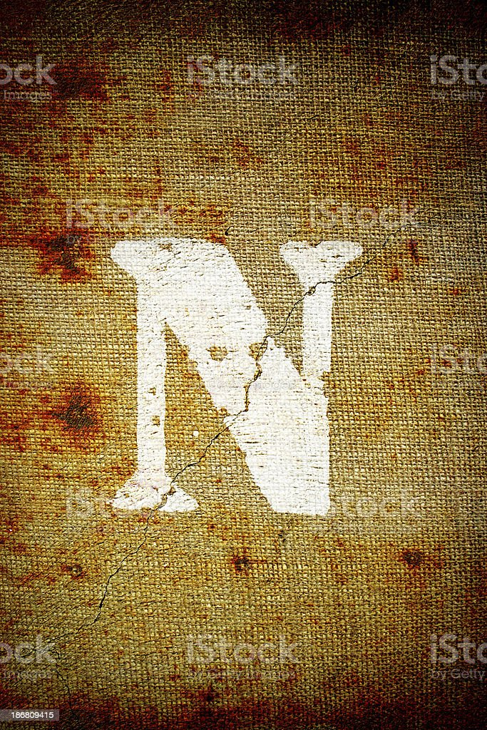 Grunge letter N royalty-free stock photo