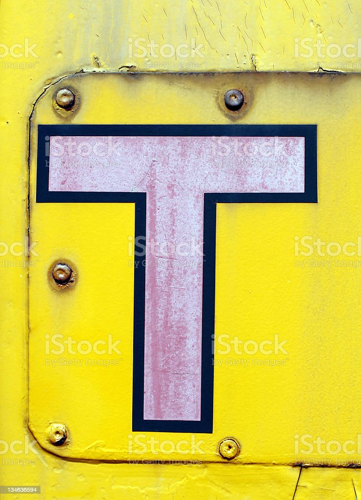 Grunge Letter T stock photo