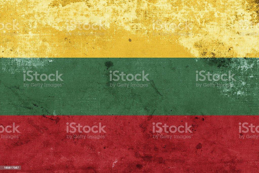 Grunge Lithuania Flag royalty-free stock photo