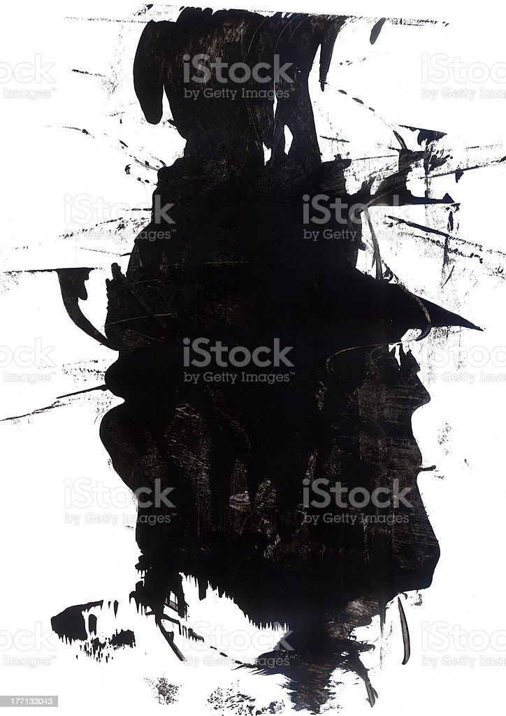 Grunge Mask royalty-free stock photo