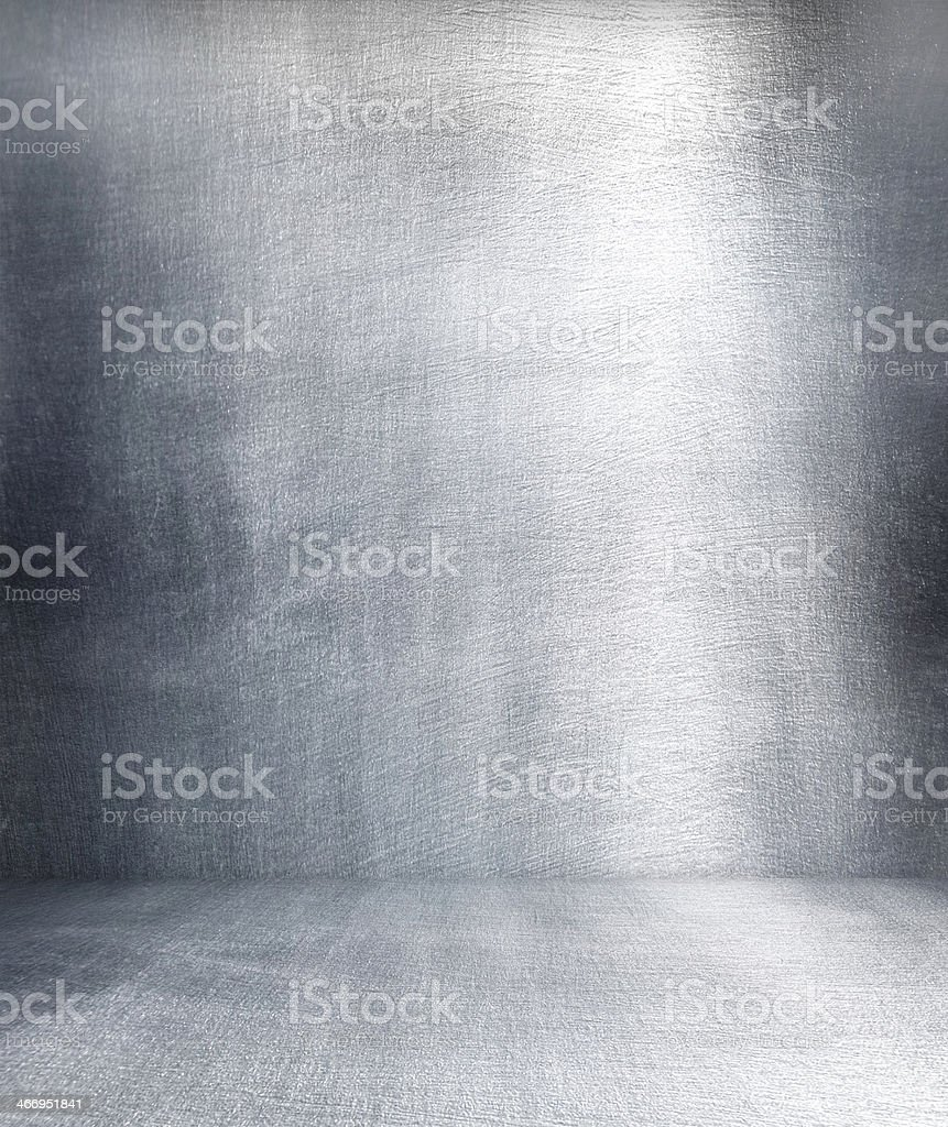Grunge metal interior. stock photo