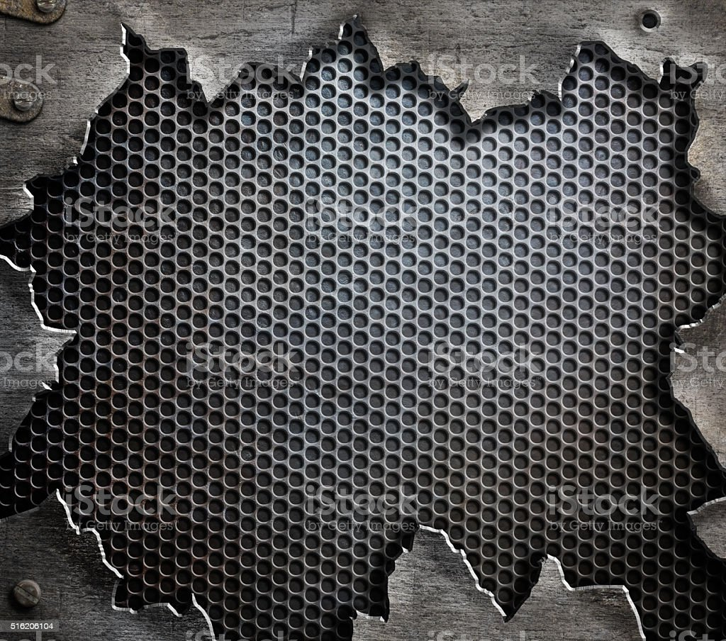 grunge metal template background stock photo