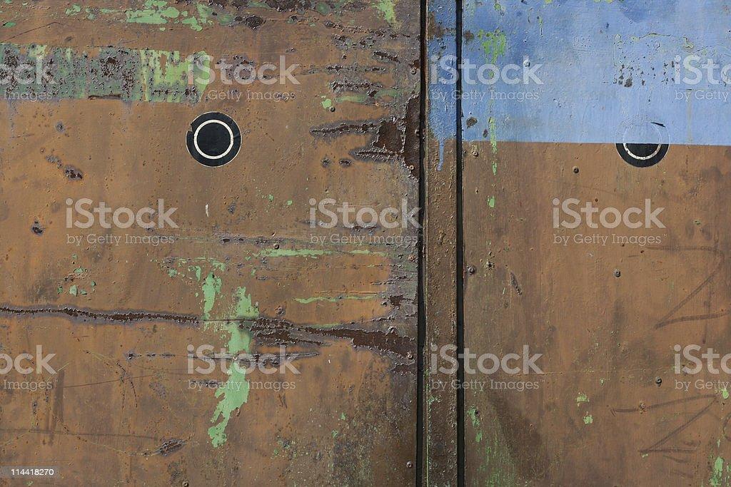 Grunge Metallic Garage Door royalty-free stock photo