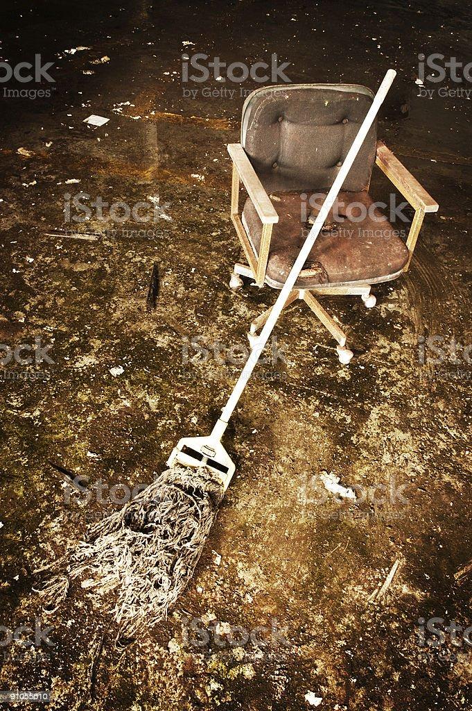 Grunge Mop stock photo