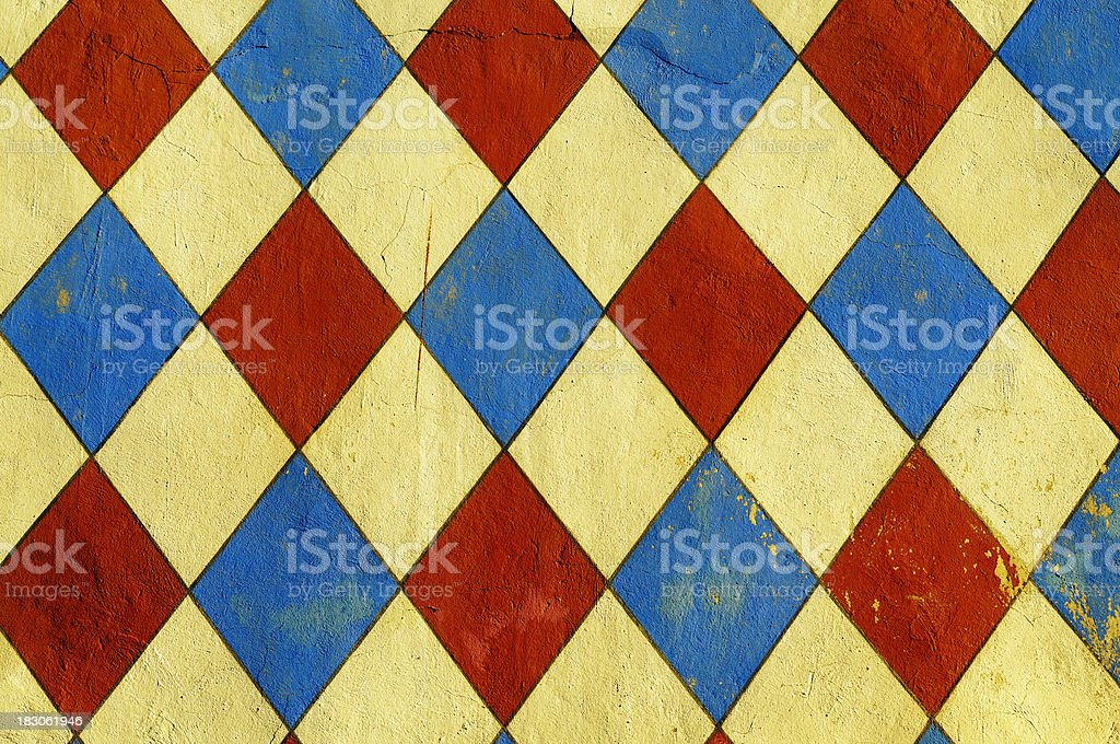 Grunge Multicolored Mosaic Wall Texture Background Pattern royalty-free stock photo