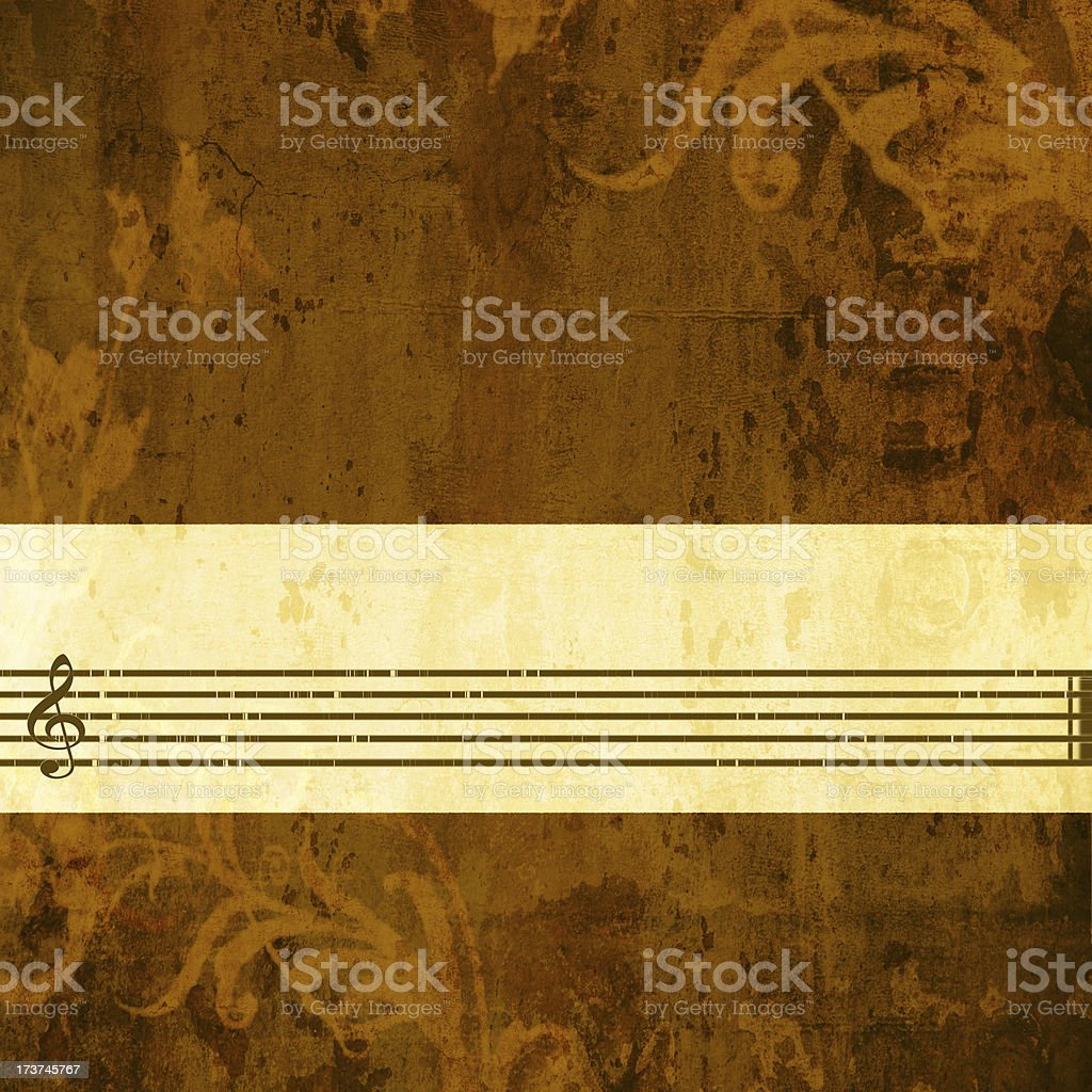 Grunge music background with many copyspace royalty-free stock photo