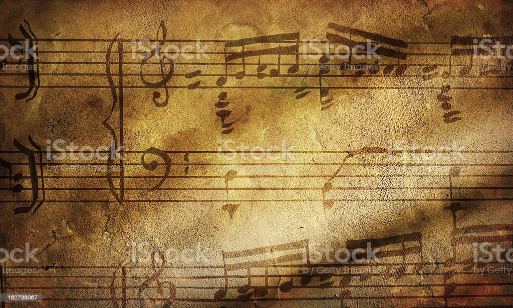Grunge music paper royalty-free stock photo