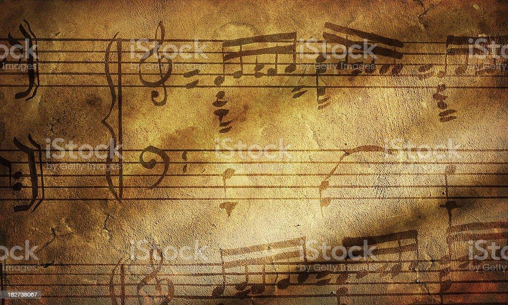 Grunge music paper stock photo