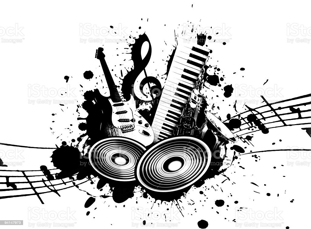 Grunge Music royalty-free stock photo