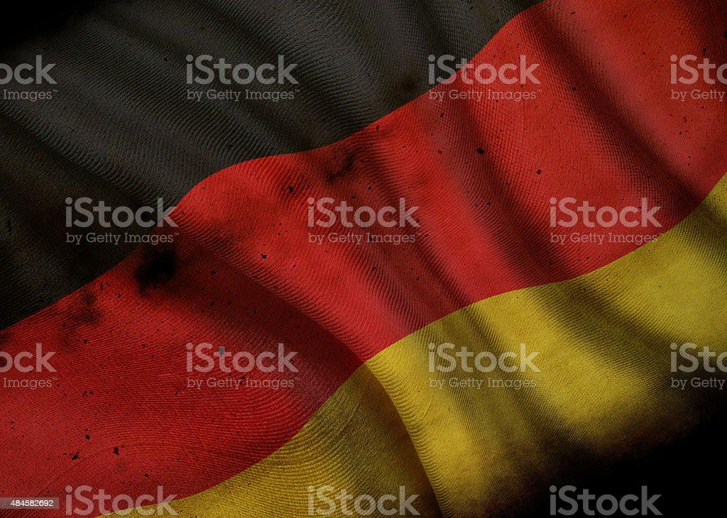 Grunge National Flag of Germany stock photo