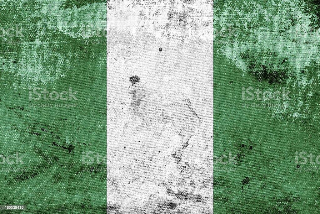 Grunge Nigeria Flag royalty-free stock photo