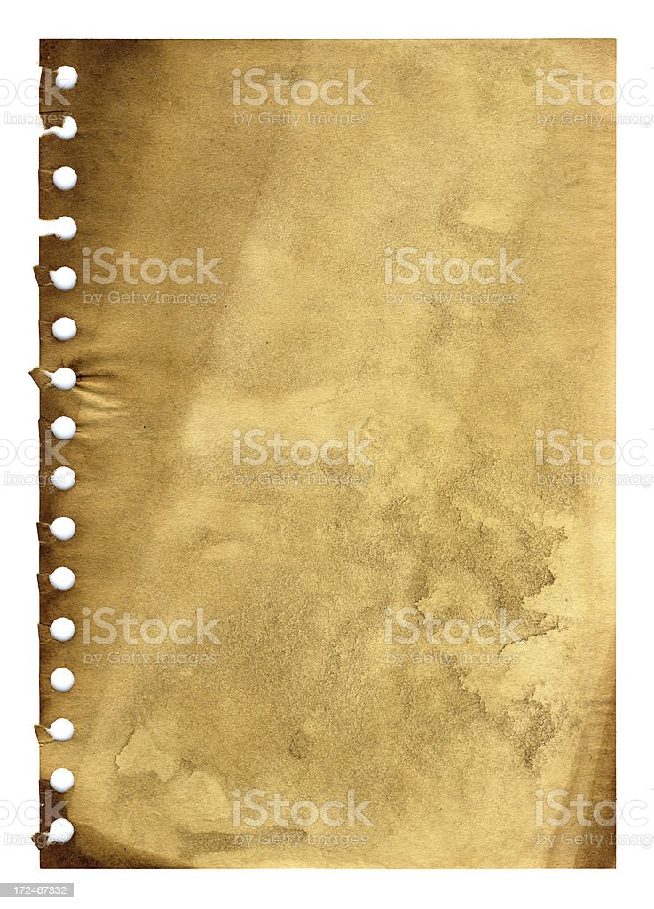 Grunge notepad page background royalty-free stock photo