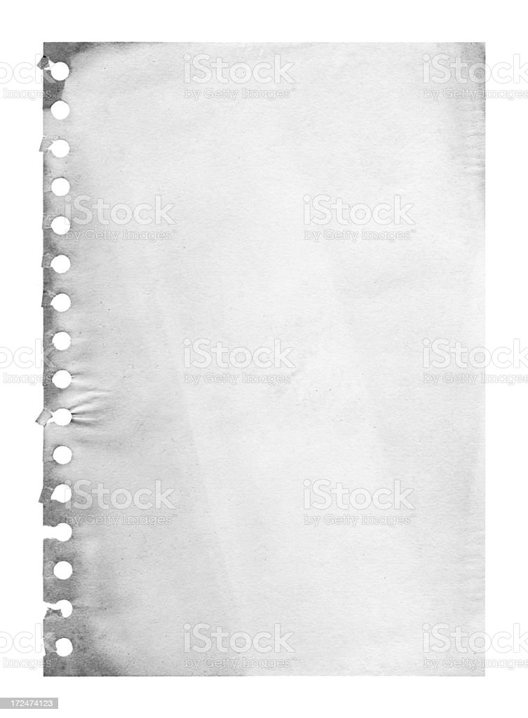 Grunge notepad page paper background textured royalty-free stock photo