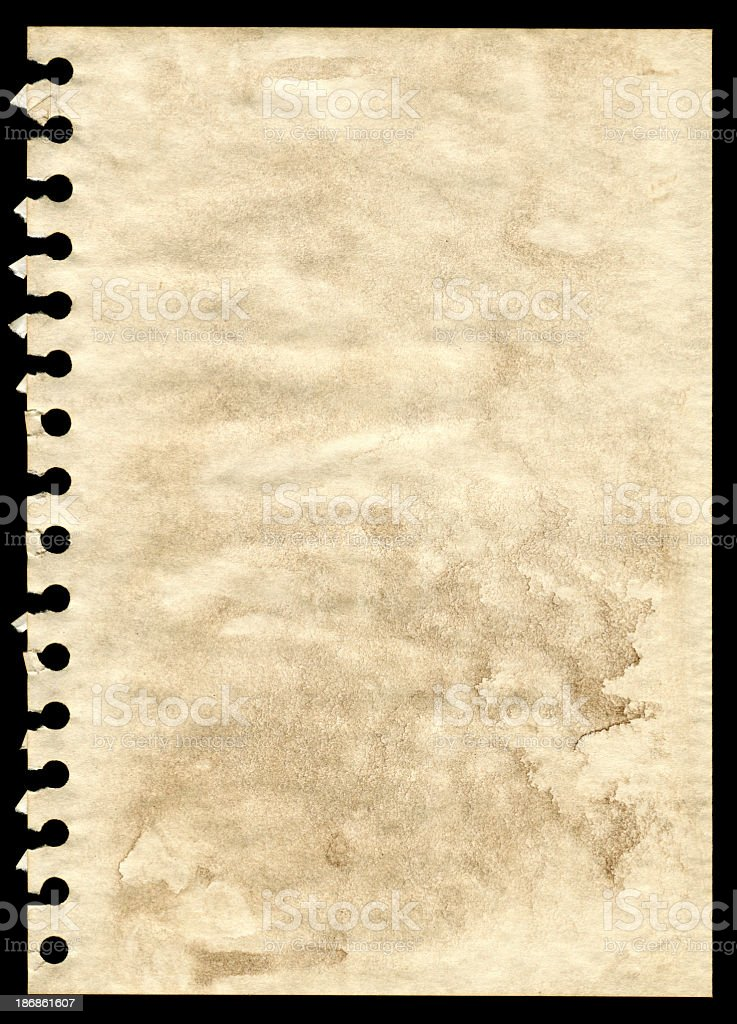 Grunge notepad page paper textured background royalty-free stock photo