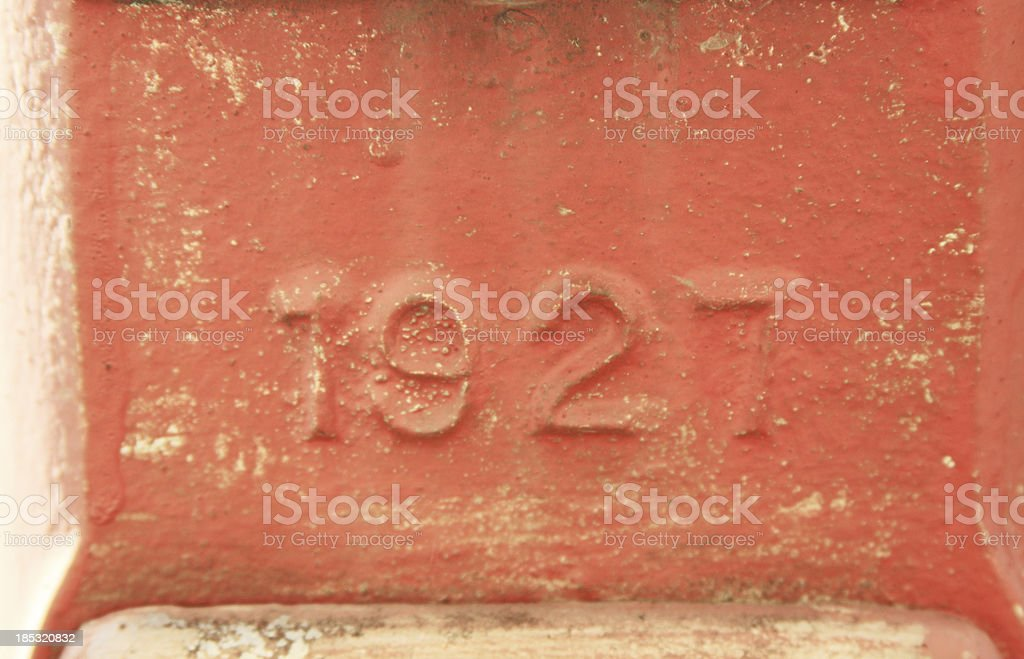 Grunge Numbers - 1927 stock photo