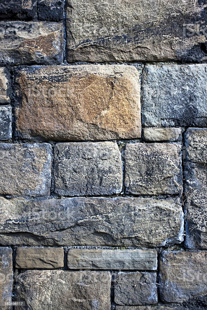 Grunge old stone wall royalty-free stock photo