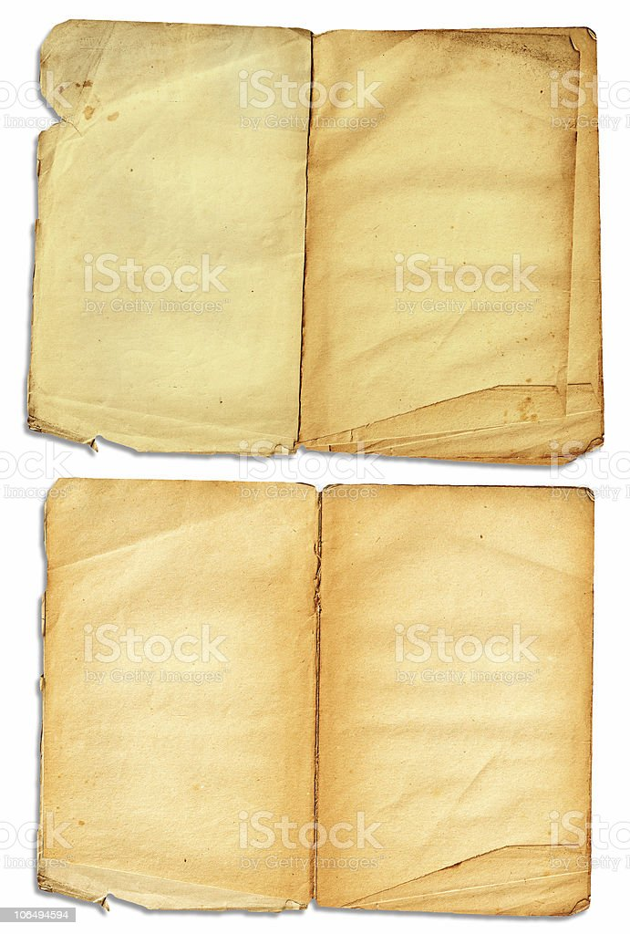 Grunge open book pages royalty-free stock photo