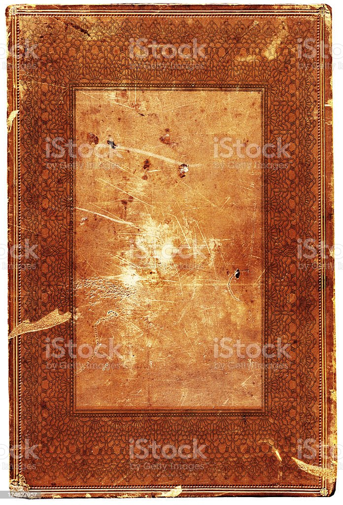 Grunge Ornate Scroll Background Frame royalty-free stock photo
