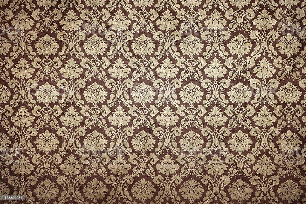 Grunge ornate wallpaper stock photo